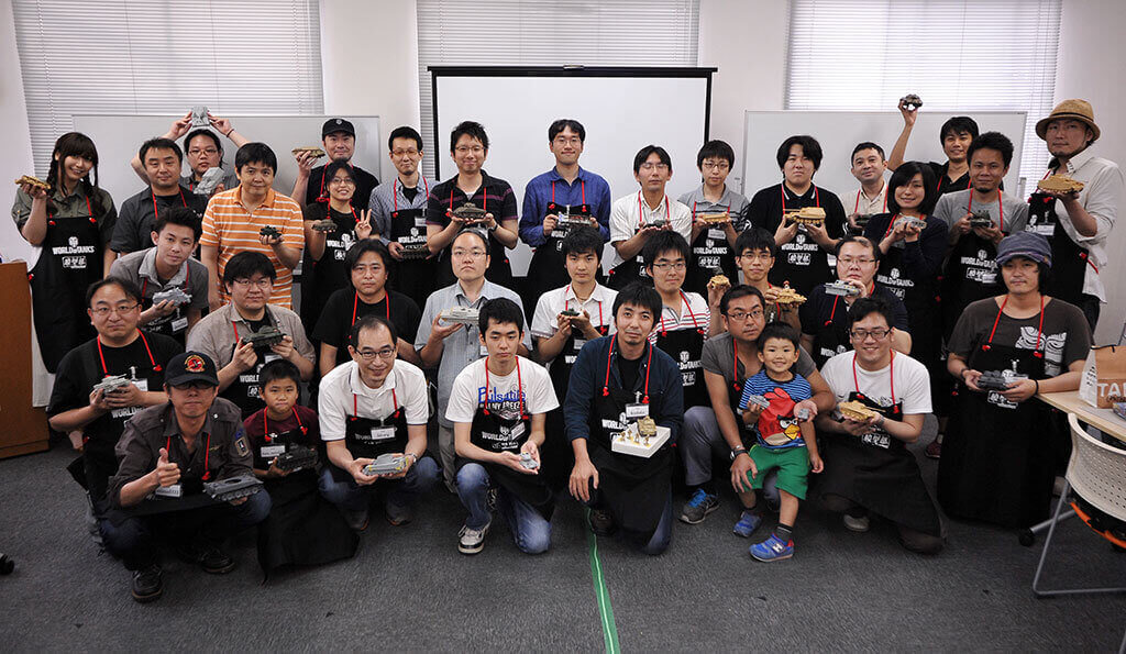 World of Tanks Holds Plastic Model Building Event in Tokyo